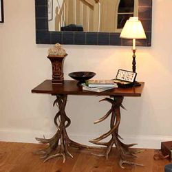 No Footsie Antler Console Table